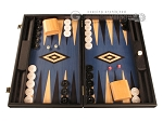 Black Backgammon Set - Large - Blue Field - Item: 2873