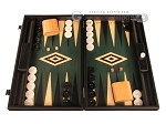 Black Backgammon Set - Large - Green Field - Item: 2874