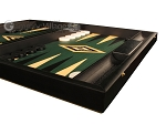 picture of Black Backgammon Set - Large - Green Field (6 of 12)