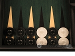 picture of Black Backgammon Set - Large - Green Field (8 of 12)
