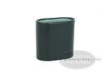 Leather Backgammon Dice Cup - Oval - Black - Item: 1876