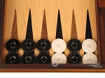 picture of Oak Backgammon Set - Large - Black (8 of 12)