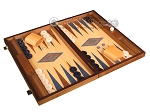 picture of Oak Backgammon Set - Large - Blue (2 of 12)