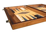 picture of Oak Backgammon Set - Large - Blue (5 of 12)