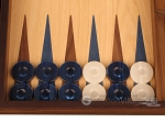 picture of Oak Backgammon Set - Large - Blue (8 of 12)