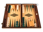 picture of Oak Backgammon Set - Large - Green (1 of 12)