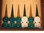picture of Oak Backgammon Set - Large - Green (8 of 12)