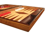 picture of Oak Backgammon Set - Large - Red (6 of 12)