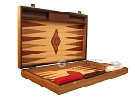picture of Oak Backgammon Set - Large - Red (7 of 12)
