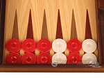 picture of Oak Backgammon Set - Large - Red (8 of 12)
