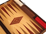 Oak Backgammon Set - Large - Red