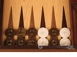 picture of Olive Root Backgammon Set - Large - Oak Field (8 of 12)
