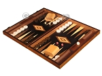 picture of Olive Root Backgammon Set - Large - Black Field (3 of 12)