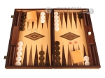 White Zebrano Backgammon Set - Large - Oak Field