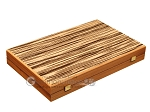 White Zebrano Backgammon Set - Large - Oak Field - Item: 2891