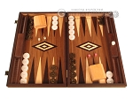 White Zebrano Backgammon Set - Large - Walnut Field - Item: 2892