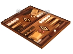 picture of White Zebrano Backgammon Set - Large - Walnut Field (3 of 12)
