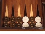 picture of White Zebrano Backgammon Set - Large - Walnut Field (8 of 12)