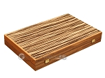 picture of White Zebrano Backgammon Set - Large - Walnut Field (10 of 12)