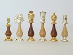 Modern Italian Staunton Chessmen - Item: 890