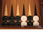 picture of Walnut Backgammon Set - Large - Black (8 of 12)