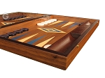 picture of Walnut Backgammon Set - Large - Blue (6 of 12)