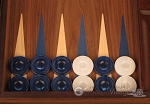 picture of Walnut Backgammon Set - Large - Blue (8 of 12)
