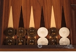 picture of Walnut Backgammon Set - Large - Brown (8 of 12)
