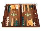 Walnut Backgammon Set - Large - Green - Item: 2832