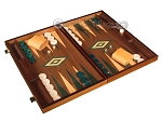 picture of Walnut Backgammon Set - Large - Green (2 of 12)