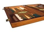 picture of Walnut Backgammon Set - Large - Green (5 of 12)