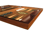 picture of Walnut Backgammon Set - Large - Green (6 of 12)