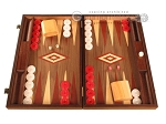 Walnut Backgammon Set - Large - Red - Item: 2831
