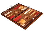 picture of Walnut Backgammon Set - Large - Red (3 of 12)