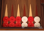picture of Walnut Backgammon Set - Large - Red (8 of 12)