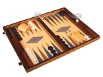 picture of Walnut and Oak Backgammon Set - Large - Blue (2 of 12)