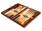 picture of Walnut and Oak Backgammon Set - Large - Blue (3 of 12)
