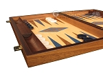 picture of Walnut and Oak Backgammon Set - Large - Blue (5 of 12)