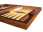 picture of Walnut and Oak Backgammon Set - Large - Blue (6 of 12)