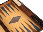 picture of Walnut and Oak Backgammon Set - Large - Blue (9 of 12)