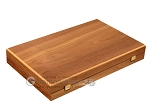 picture of Walnut and Oak Backgammon Set - Large - Blue (10 of 12)