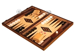 picture of Walnut and Oak Backgammon Set - Large - Black (3 of 12)