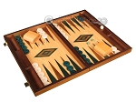 picture of Walnut and Oak Backgammon Set - Large - Green (2 of 12)