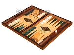 picture of Walnut and Oak Backgammon Set - Large - Green (3 of 12)