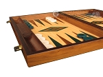 picture of Walnut and Oak Backgammon Set - Large - Green (5 of 12)