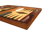 picture of Walnut and Oak Backgammon Set - Large - Green (6 of 12)