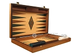 picture of Walnut and Oak Backgammon Set - Large - Green (7 of 12)