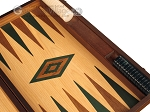 picture of Walnut and Oak Backgammon Set - Large - Green (9 of 12)