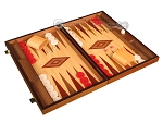 picture of Walnut and Oak Backgammon Set - Large - Red (2 of 12)
