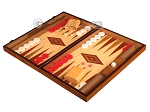 picture of Walnut and Oak Backgammon Set - Large - Red (3 of 12)